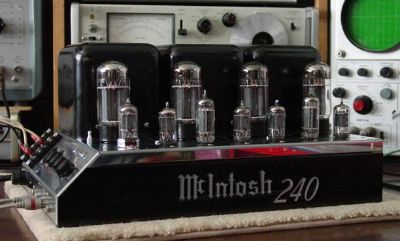 McIntosh stereo power ampoiifier on the workbench